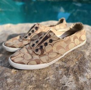 Katie Coach Signature Print Slip-on Shoe